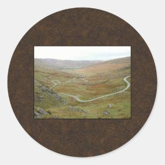 Healy Pass, Beara Peninsula, Ireland. Classic Round Sticker