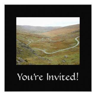 Healy Pass, Beara Peninsula, Ireland. Personalized Invitation