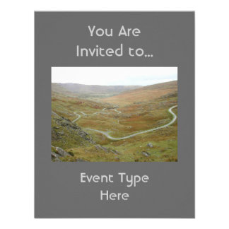 Healy Pass, Beara Peninsula, Ireland. Custom Invitation