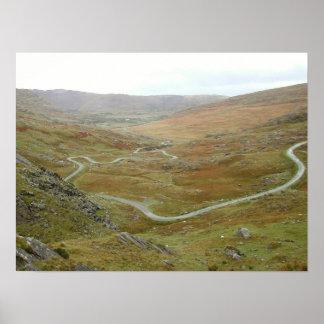Healy Pass, Beara Peninsula, Ireland. Poster