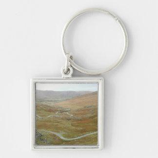 Healy Pass, Beara Peninsula, Ireland. Silver-Colored Square Keychain