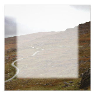 Healy Pass, Winding Road in Ireland. Announcement