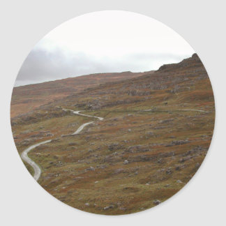 Healy Pass, Winding Road in Ireland. Classic Round Sticker