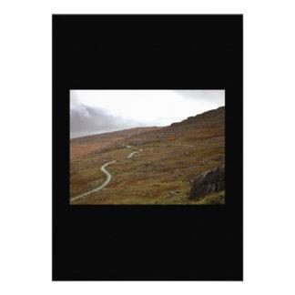 Healy Pass, Winding Road in Ireland. Custom Invitations