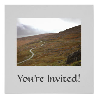 Healy Pass, Winding Road in Ireland. Personalized Invite