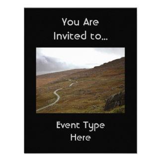 Healy Pass, Winding Road in Ireland. Custom Invites