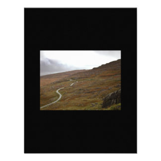 Healy Pass, Winding Road in Ireland. Personalized Announcement