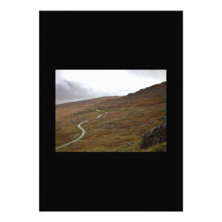 Healy Pass, Winding Road in Ireland. Invitation