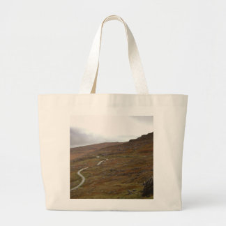 Healy Pass, Winding Road in Ireland. Large Tote Bag