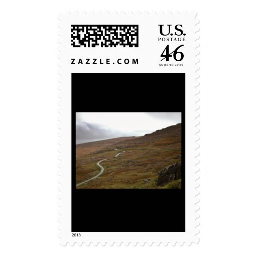Healy Pass, Winding Road in Ireland. Postage