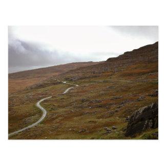 Healy Pass, Winding Road in Ireland. Postcard