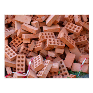Heap bricks postcard