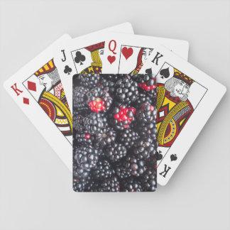 Heap of blackberries poker deck