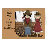 Heap of Gratitude - Western Thank You Greeting Cards