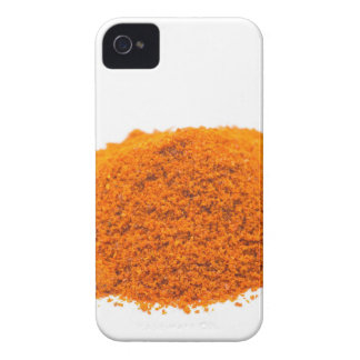 Heap of spice cayenne pepper powder on white iPhone 4 case