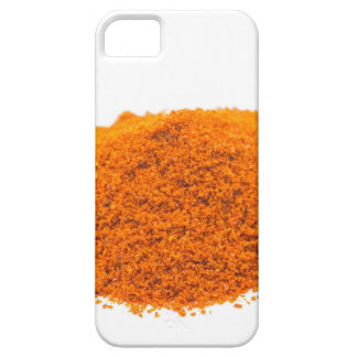 Heap of spice cayenne pepper powder on white iPhone SE/5/5s case