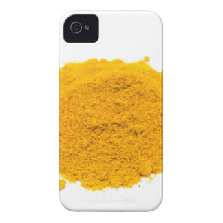 Heap of spice turmeric powder on white background. iPhone 4 Case-Mate case