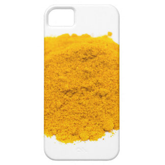 Heap of spice turmeric powder on white background. iPhone SE/5/5s case