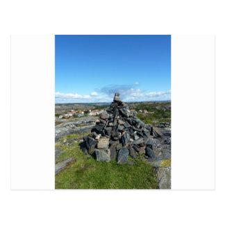 Heap of stone postcard