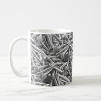 Heap of the carpentry's nails classic white coffee mug