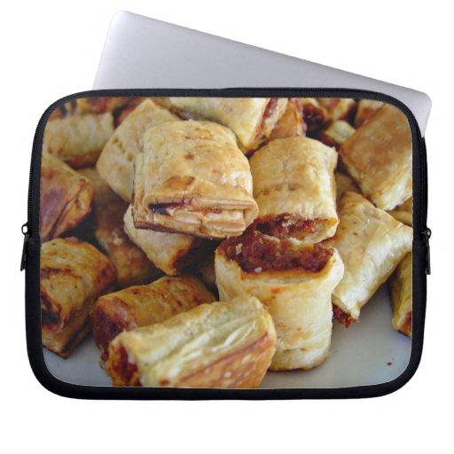 Heaps of sausage rolls laptop sleeves