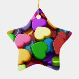 Hear Candy Ceramic Ornament