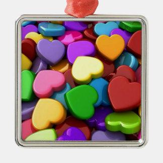 Hear Candy Metal Ornament