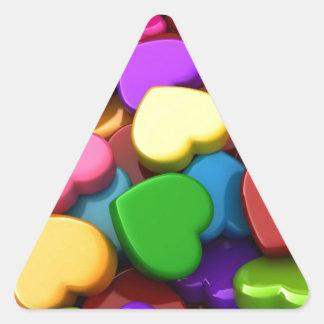 Hear Candy Triangle Sticker