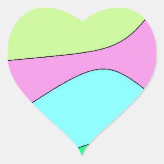 hear cotton candy heart sticker