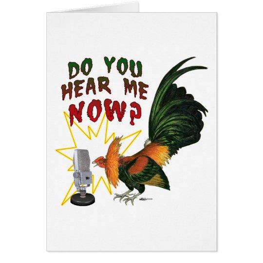 Hear Me Now? Card