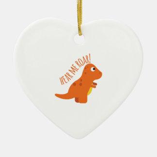 Hear Me Roar Ceramic Heart Ornament