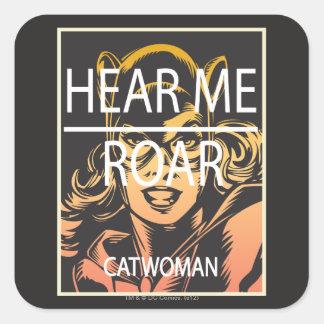 Hear Me Roar Square Stickers