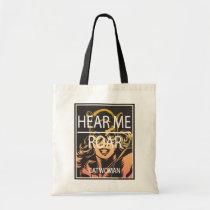 cat woman, feline fatale, hear me roar, cute, girly, super villain, theif, dc comics, gotham city, Bag with custom graphic design