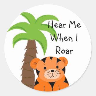 Hear Me When I Roar Classic Round Sticker