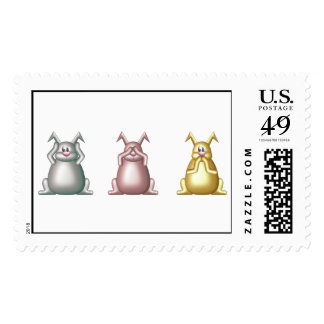 Hear No Bunnies copy Postage Stamps