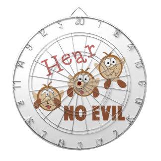 Hear No Evil Dartboard With Darts