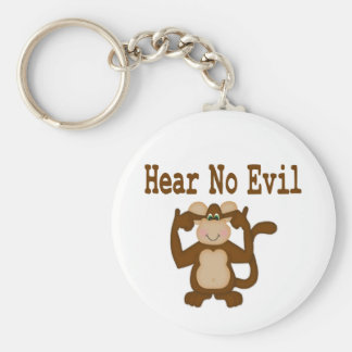 Hear No Evil Keychain