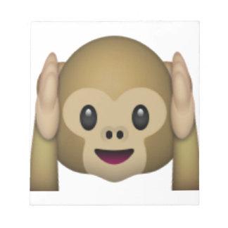 Hear No Evil Monkey - Emoji Notepad