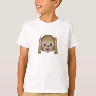Hear No Evil Monkey Emoji T-Shirt