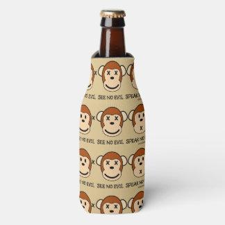 Hear No Evil Monkeys Bottle Cooler