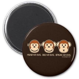 Hear No Evil Monkeys Refrigerator Magnet