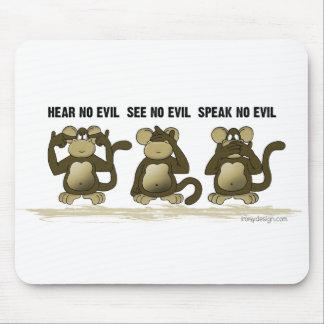 Hear No Evil Monkeys Mouse Mat