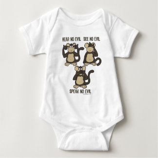 Hear No Evil Monkeys - New Baby Bodysuit