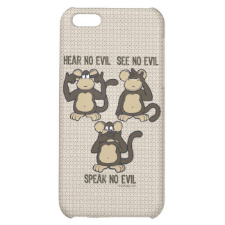 Hear No Evil Monkeys - New iPhone 5C Covers
