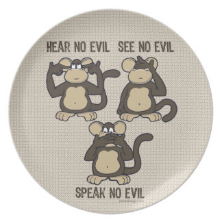 Hear No Evil Monkeys - New Plate