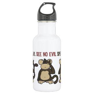Hear No Evil Monkeys - New Stainless Steel Water Bottle