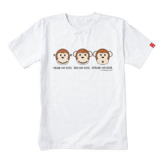 Hear No Evil Monkeys Zazzle HEART T-Shirt