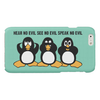 Hear No Evil Penguins Glossy iPhone 6 Case