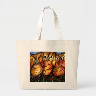 Hear No Evil, See No Evil, Hoot No Evil Large Tote Bag