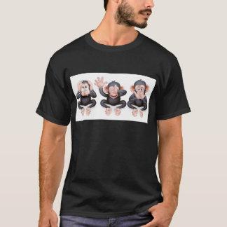 Hear no evil see no evil speak no evil monkeys T-Shirt